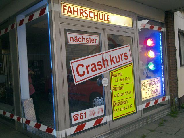 Crashkurs - so bezeichnet diese Fahrschule ihre Intensivkurse.